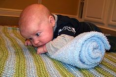 7 tips for getting your infant used to tummy time...so they can enjoy it!  may want this later.
