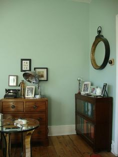 Our Eclectic Flea Market Vintage Deco Living Room Bohemian Farrow And Ball Teresas Green For The Wardrobe Doors