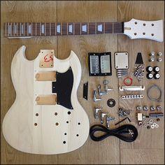 Gibson les paul junior double cutaway diy electric guitar kit parts blackbeard diy electric guitar kit eg sg 10 blackbeards den solutioingenieria Image collections