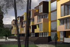 The location is on the edge of the planned 650 apartments which was finished year ago. Also this apartment block is social type and was sold to Slovenian Ho. Tetris, Social Housing, Apartments, How To Plan, Type, Home Decor, Decoration Home, Room Decor, Home Interior Design