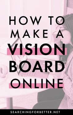 Not all of us have time to get the glue and scissors out to create a vision board. Or, some of us just aren't the crafty type! If you feel my pain this post is for you! Today I'm going through a simple way to make a vision board online! Come on and join me :) Self Development, Personal Development, Goal Board, Creating A Vision Board, Healthy Mind And Body, Life Plan, What Inspires You, Transform Your Life, Mindful Living