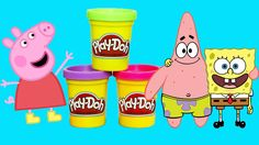 Play Doh Stop Motion Peppa Pig spongebob Play Doh Sets For Kids KAKAZAI