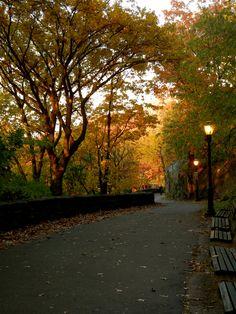autumn in fort tryon park Heather Gardens, Stone Creek, New York City Manhattan, Washington Heights, Hudson River, George Washington Bridge, More Photos, In The Heights, Letter