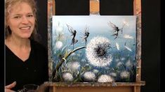 Learn How to Paint DANDELION FAIRY DANCE with Acrylic - Paint & Sip at Home - Step by Step Tutorial