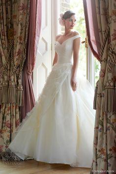 stephanie allin 2014 daisy wedding dress ball gown straps