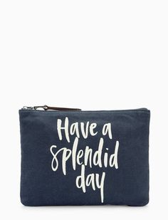 1998241c078e Carry all your beauty essentials with our Gramercy Zip Top Pouch Classic  navy with a white