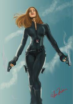 Black Widow - Captain America 2 Poster Art by lenfontes