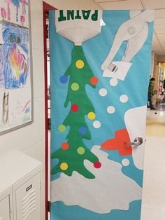 Art Room Door Decorations Winter – IKEA Design – Shop Online for Home – Office Furniture Holiday Door Decorations, School Door Decorations, Classroom Design, Art Classroom, Classroom Ideas, Christmas Classroom Door, Christmas Art, Art Room Doors, Art Bulletin Boards