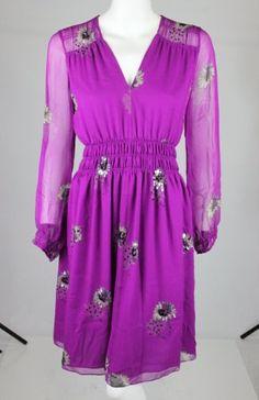 Rebecca Taylor Shadow Beaded Daisy Dress