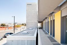 Access. 30 subsidized tenements in Ibiza by Vora Arquitectura. Photography courtesy of © Adrià Goula.