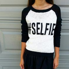 #Selfie Sweater Only worn once! In perfect condition!  70% Cotton 30% Acrylic Made in China Heritage 1981 Sweaters