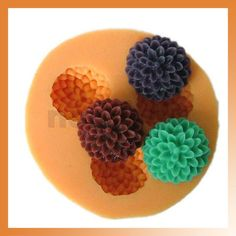 Ball-flower Silicone Mold Chocolate Jello Mold Maker Handmade Soap Candle Mould