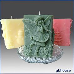 3D Silicone Candle Mold – Gyndolyn Fairy of Snowflakes | eBay