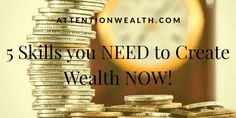 A list of 5 Skills you NEED to Create Wealth NOW! Everyone wants to be a billionaire, but only a few of them can achieve this goal. Wealth Creation, Personal Development, Hacks, Billionaire, Create, Board, Blog, Blogging, Career