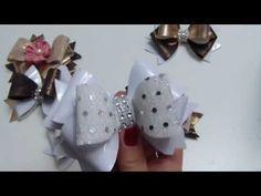 Hermosos Moños de TEla o Cuero para las Niñas Paso a Paso, Tutorial Moños - YouTube