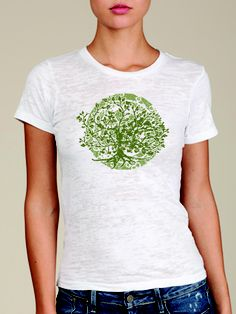 #20219: Tree of Life in White  S/S BO with Green (MSRP $42) XL Only Tree Of Life Quotes, Burnout Tee, Tees, Long Sleeve, Mens Tops, Closet, Women, Fashion, Moda