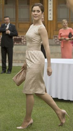 HRH Mary, Crown Princess of Denmark, Countess of Monpezat in Korea, May 2012.