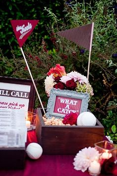 Just preplanning - Engagement party idea for Jess ;) baseball theme could be cute too @Ashleigh Houston