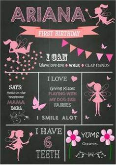 Fairy Chalkboard - Create yours order at www.rainbowmagic.co.za
