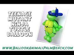 How To Make A Teenage Mutant Ninja Turtle Balloon - Balloon Animals Palm...
