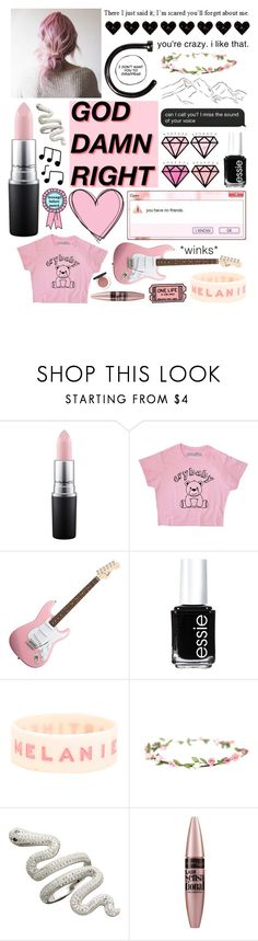 """""""Untitled #390"""" by shinrinyoku ❤ liked on Polyvore featuring MAC Cosmetics, Bebe, Essie, ESPRIT, Hot Topic and Maybelline"""