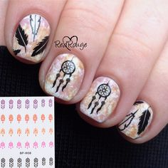 Cheap nail art decorations stickers, Buy Quality nail art water decals directly from China water decals Suppliers: 1 sheet BORN PRETTY Dream Catcher Sticker Nail Art Water Decals Transfer Nail Art Decoration Stickers Nail Water Decals, Nail Art Stickers, Pretty Nail Art, Cute Nail Art, Nail Manicure, Toe Nails, Dream Catcher Nails, Indian Nails, Born Pretty