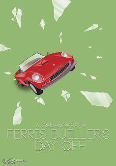 Ferris Bueller's Day Off (1986) ~ Minimal Movie Poster by Tyler Smith #amusementphile