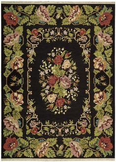 Material: Hand Woven 100% Wool Reminiscent of vintage bessarabian rugs, this delightful floral comes opulently to life in tasteful harmony with its soft beige background. The charming design in fine E