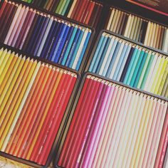 I finally bought the 150 pack of Prismacolors! So excited about this!! #johannabasford #magicaljungle #enchantedforest #coloringforadults