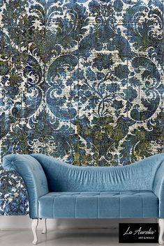 Prestige Wallpaper Collection La Aurelia Accent Walls In Living Room Blue Wallpapers Warm