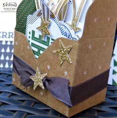 Barbara's creative studio: Artisan Team Blog Hop - small packaging with the Falzbrett for gift boxes