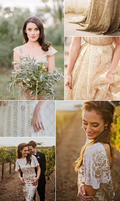 Unconventional dresses for the less traditional bride. How are you adding your own personal style to your wedding?
