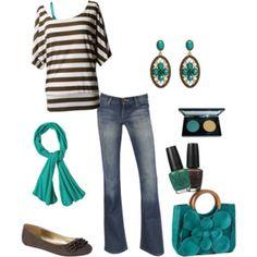 Teal outfit #TopToBottom #WearTeal #Belabumbum