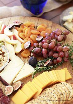 beautiful fall cheese board