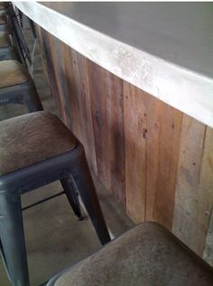Barn Wood Bar With Rusty Tin My Projects Pinterest