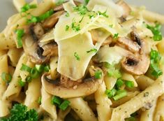 Penne Pasta with a Mushroom Sauce Pasta Soup, Pasta Dishes, Food Dishes, Penne Pasta, Main Dishes, Pasta Recipes For Kids, Italian Pasta Recipes, Cooking Recipes, Creamy Chicken Pasta