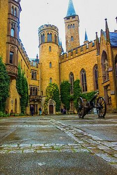 Hohenzollern Castle's courtyard in Germany