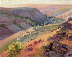 Home Country -- Original Oil Painting -- Rural Hills in the Afternoon Sun