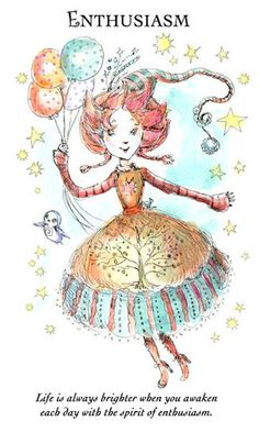 """☆ Witchling: Enthusiasm """"Life is always brighter when you awaken each day with the spirit of enthusiasm."""" -::- Artist Paulina Cassidy ☆"""