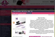 Pisak do zdobień - Nail Art Pen - fiolet - Nail Art Pen, Perfume, Nails, Gifts, Finger Nails, Presents, Ongles, Favors, Nail