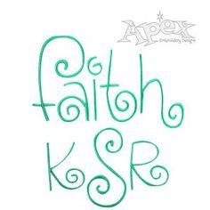 ****Kurlz Embroidery Font Alphabet