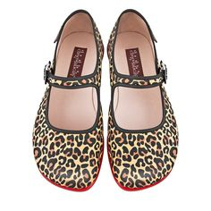 Hot Chocolate Design Chocolaticas Leopard Womens Mary Jane Flat Multicoloured US #HotChocolateDesign #NotApplicable