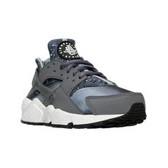 Nike Women's Air Huarache Run Print Running Shoes ($120) ❤ liked on Polyvore featuring shoes, athletic shoes, grey, native american shoes, nike footwear, nike, gray shoes and grey running shoes
