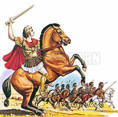 Alexander the Great on Bucephalus.