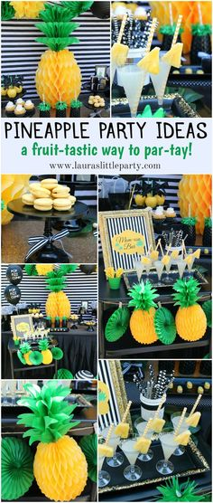 LAURA'S little PARTY: Pineapple Party  Mother's Day celebration!