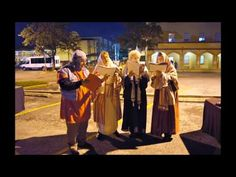 "2012 Live Christmas Nativity - Lo Esperamos ""We are waiting""  (including camel, sheep, goats)  St. John's Lutheran Church, 502 E. Nueva St, San Antonio, TX"