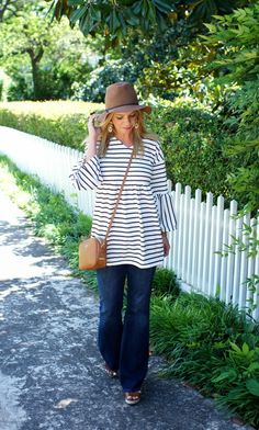 Boho Stripes on Casual Friday | Because Shanna Said So