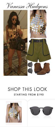 """Vanessa Hudgens Coachella look"" by faanciella ❤ liked on Polyvore featuring Via Spiga and Illesteva"
