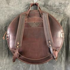 Leather Backpack Cymbal Bag – TACKLE Instrument Supply Co. Solid Brass, Leather Backpack, Backpacks, Zipper, Drums, Classic, Aesthetics, Bags, Accessories