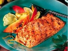 Salmon with Brazilian spices---my favorite salmon recipe! DON'T leave the marinade on for more than 30 minutes... it will totally overpower the salmon's flavor.
